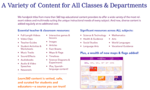 A Variety of Content for All Classes & Departments