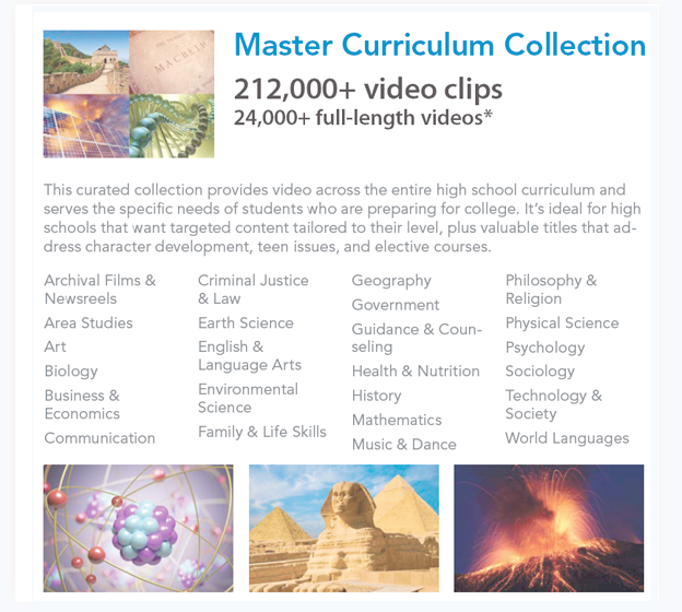 master curriculum collection